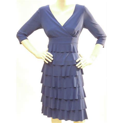 Dress Ruffle Blue frank lyman frank lyman blue ruffle dress 13036 frank