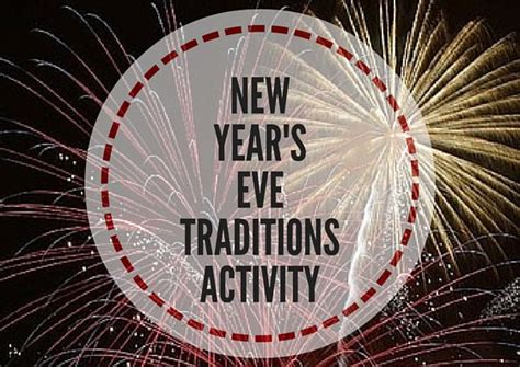 rituals on new year 2016 new year s traditions activity