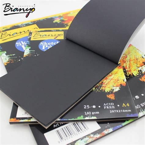 black paper sketchbook a4 bianyo 25 sheet a4 a5 black paper cardboard notebook