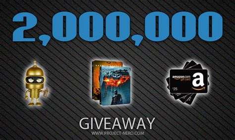 Millionaire Giveaway - 2 000 000 visits giveaway project nerd