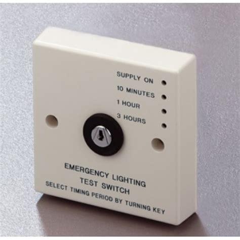 security light switch key emergency light timed key test switch