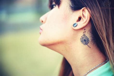 dandelion tattoo behind ear 19 cool dandelion tattoo images pictures and designs
