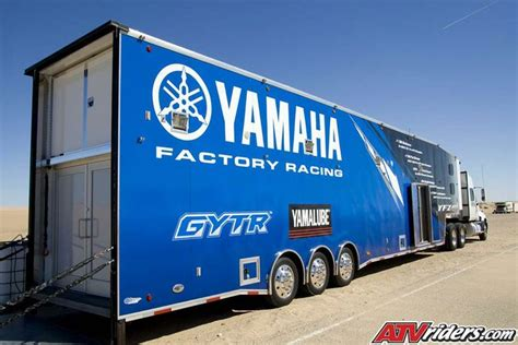 Motocross Truck   Thomas Brown, Yamaha's newest rider, puts in some lap times in Florida