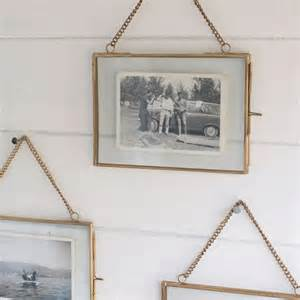 frame hanging hanging brass photo frame by idyll home
