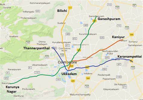 Mba Express Liberty by Coimbatore Route Map My