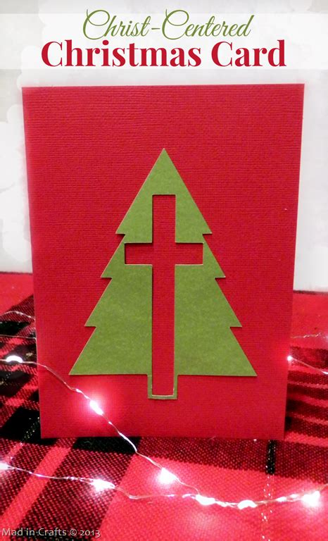 christ centered christmas card mad  crafts