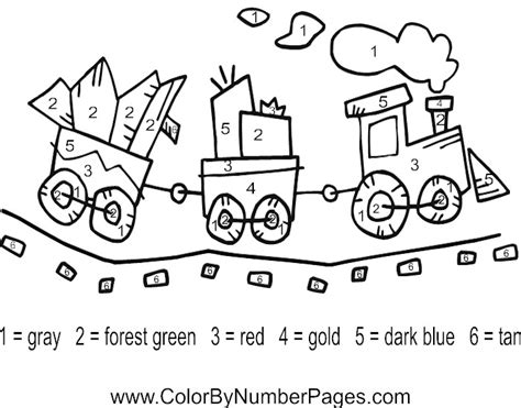 number train coloring page number train coloring pages