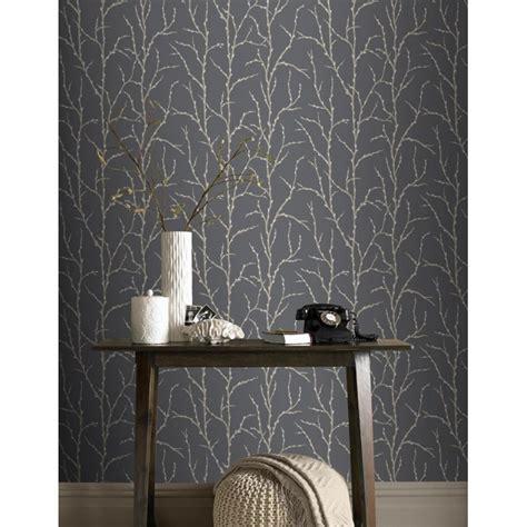 wallpaper grey twigs rasch allure tree twig branch pattern silver glitter