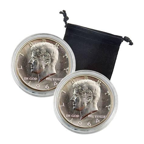 1964 kennedy half dollar 2 pc set uncirculated