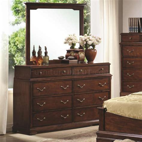 fabric headboard bedroom sets cherry finish classic bedroom set w padded tan fabric headboard