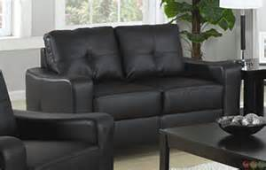 black sofa and loveseat set contemporary black bonded leather sofa and
