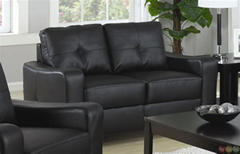 black leather sofa and loveseat set contemporary black bonded leather sofa and