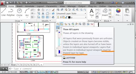 autocad layout viewport layers solved lisp file to thaw all layers frozen in the
