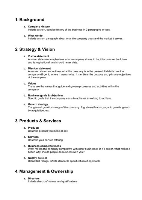 company bio template thiniza general trading