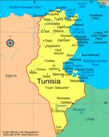 where is tunisia in the world map map of tunisia