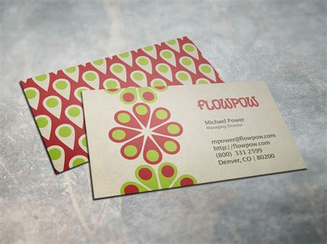 power card template colorful flower power business card business card