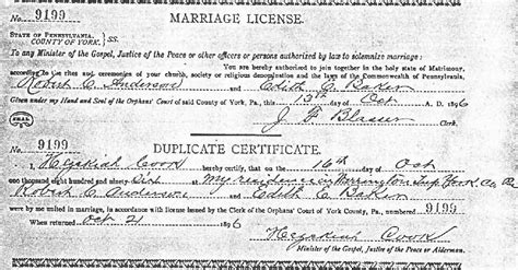 Marriage License Records Pennsylvania York County Pa Usgenweb Archives Marriage Records