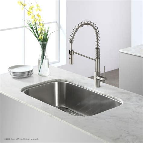 10 inch kitchen sink kraus kbu14 31 inch undermount single bowl stainless steel