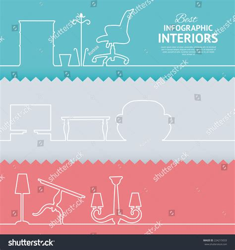 interior design elements icons stock vector art 165814827 flat colors infographics with interior design elements