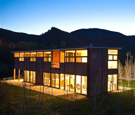 flatpak luxury prefab house in aspen colorado modern