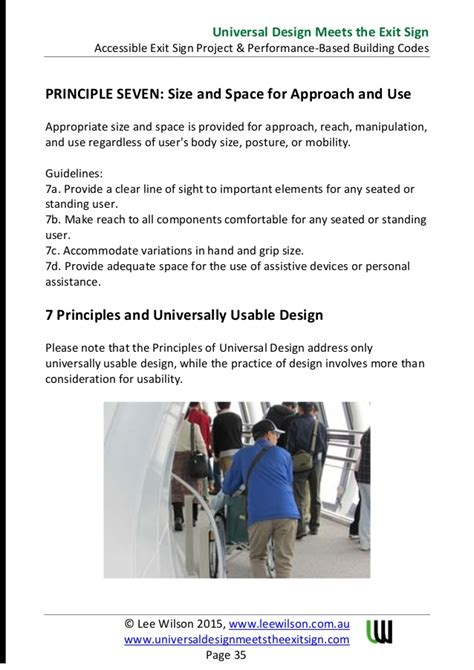 are design elements universal regardless of the medium universal design meets the exit sign white paper by lee