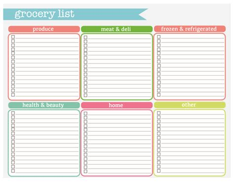 printable grocery list categories check out these printables i m going to use from the