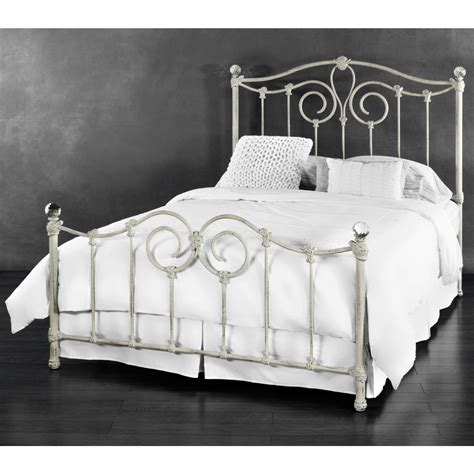 white iron beds white wrought iron queen bed frame home beds decoration