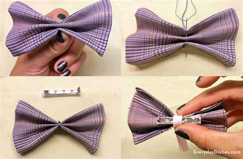 How To Make Handmade Bow Ties - clip on bow tie craft everyday dishes diy