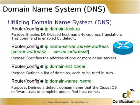 Ip Address Domain Lookup Cisco Ccent Icnd1 Advanced Ios Part Ii Certificationkits