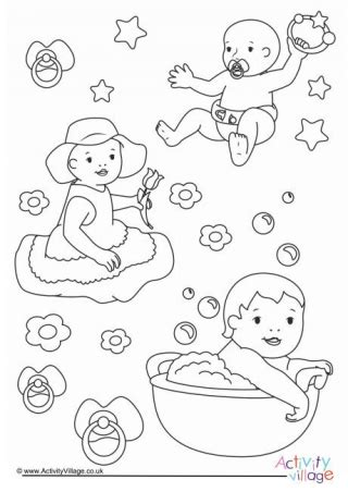 coloring for babies baby colouring pages for