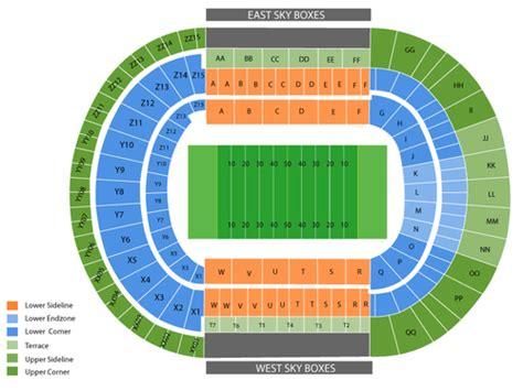 neyland stadium map viptix neyland stadium tickets