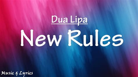 dua lipa new rules m4a dua lipa new rules lyrics lyric video youtube