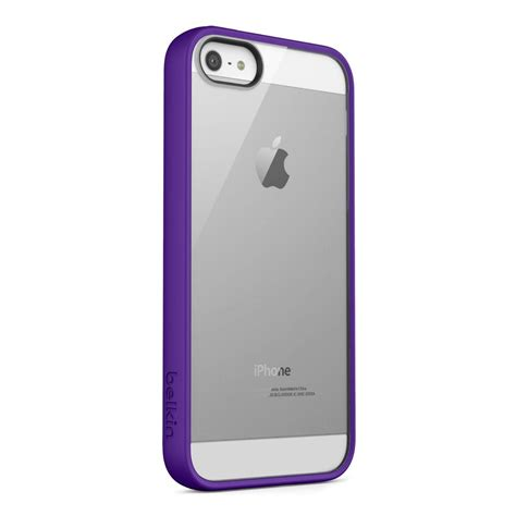 Belkin View Iphone 5 by Belkin View For Iphone 5 Iphone 5s Se Clear Violet