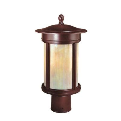Home Depot L Posts Outdoor by Hton Bay Craftsmen 3 Light Outdoor Rubbed Bronze