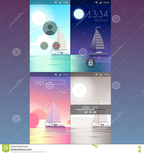 Mobile App Application Background Wallpaper Template Mockup Stock Vector Illustration Of App Mockup Template