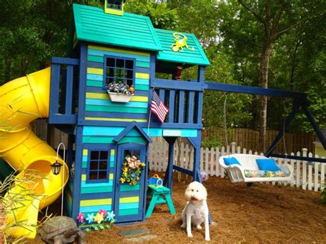painted swing set 25 best ideas about painted playhouse on pinterest