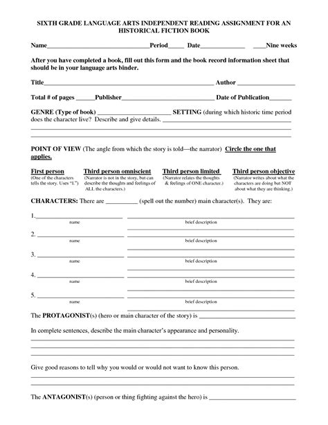 printable worksheets language arts 16 best images of 6th grade vocabulary worksheets 6th