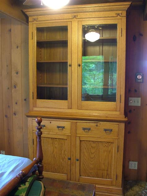 oak china for sale wooden oak china or cupboard from civil war era