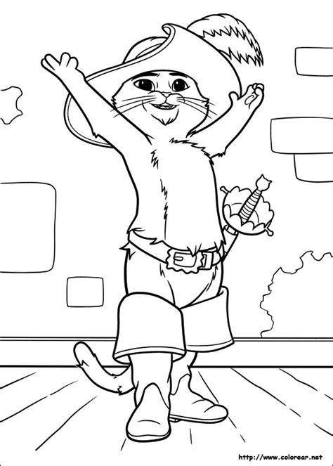 imagenes de octubre para dibujar imagenes del gato con botas para colorear