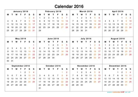 printable calendar year on one page calendar 2016 printable one page w holidays calendar