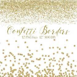 sparkling confetti overlay clipart gold glitter gold confetti borders glitter confetti clipart digital