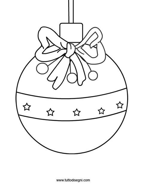 clipart natale da colorare disegno pallina albero di natale tuttodisegni