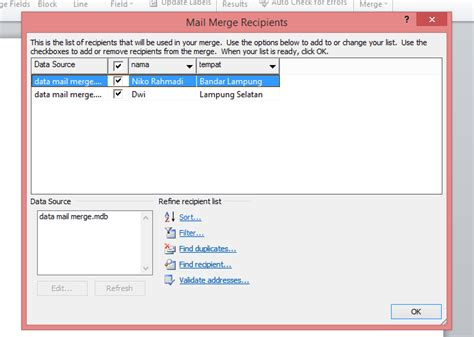 Cara Membuat Mail Merge Office 2013 | cara membuat mail merge di ms office word 2007 2010