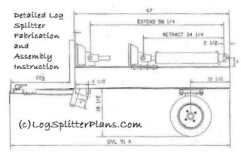 lite duty home built 18 ton horizontal log splitter plans