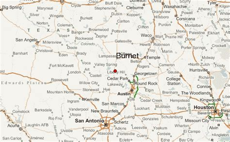 map of burnet texas burnet location guide