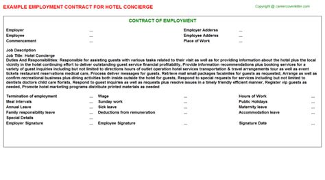 Concierge Contract Template