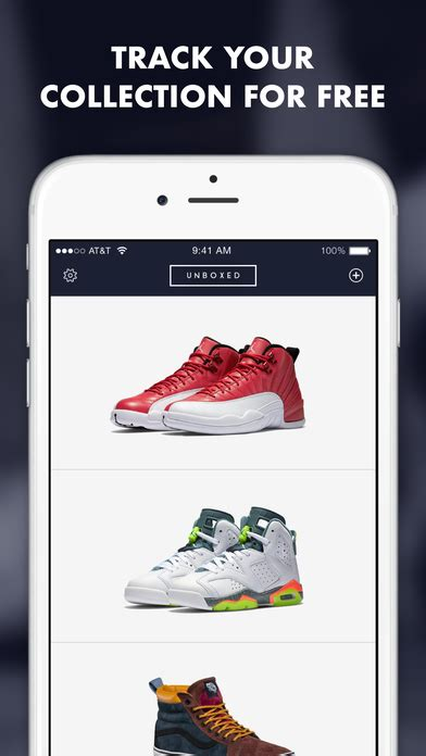 sneaker collection app track and manage your shoe collection with unboxed ios app
