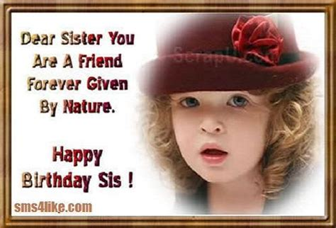 Happy Birthday Wishes For Siblings Happy Birthday Wishes Sms For Sister