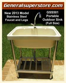 Portable Camping Kitchen With Sink - portable outdoor sink garden camp kitchen camping rv ebay