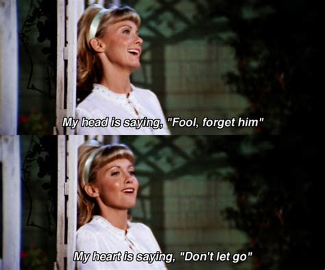 grease 1978 quotes imdb my head is saying fool forget him my heart is saying